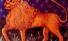 מזל אריה. מקור: ויקיפדיה ברשיון שימוש חופשי PD. איור מתוך: medieval book of astrology