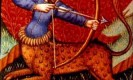 מזל קשת. מקור: ויקיפדיה ברשיון שימוש חופשי PD. איור מתוך: medieval book of astrology